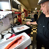 KRISTOPHER RADDER — BRATTLEBORO REFORMER<br /> Eddie Cagliano, owner of Fast Eddies, on Putney Road, in Brattleboro, shows the fresh fish that he gets daily to make fish fry on Friday, Feb. 28, 2020.  Cagliano said he normally gets 20 pounds but during Lent, he gets around 40 pounds of fish.