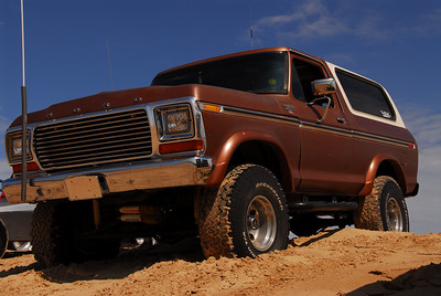 1978 Bronco on top of the Dunes.