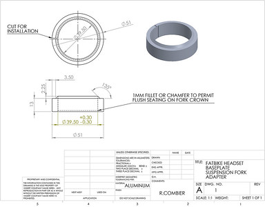 Fatbike baseplate adapter