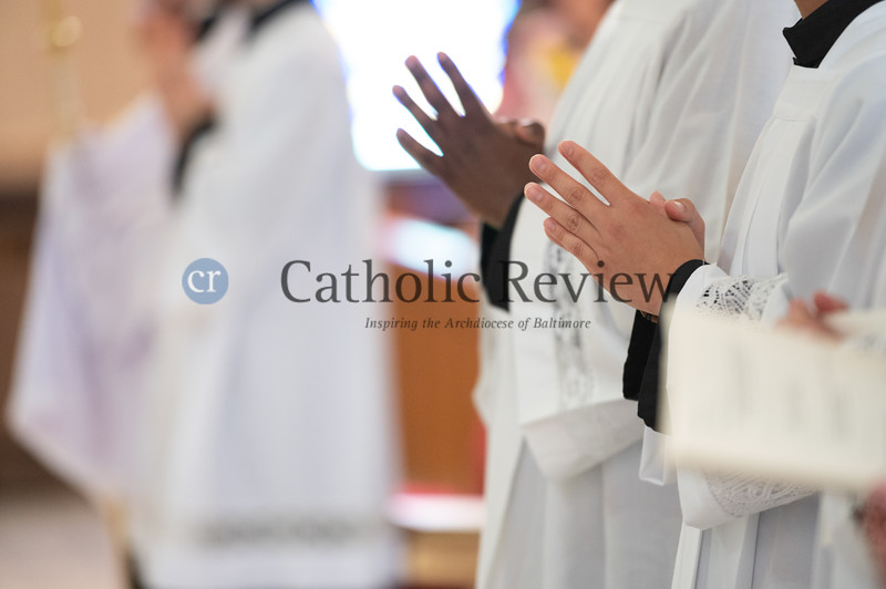 Scott Kady ordination to the priesthood June 19, 2021 at St. Peter Catholic Church in Westernport, Allegany  County. (Kevin J. Parks/CR Staff)