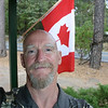 I'm a happy camper at the end of a really special Fathers Day.  I'm a blessed man!  Took this shot with the Canadian Flag specially for Dad's enjoyment.  (yesterday was  Flag Day in the US of A, and we did have Old Glory fluttering in the breeze, too - see previous shot).