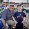 Eric Pelczar of Haverhill enjoys a Spinners game on Father's Day with his son, Andrew. SUN/Caley McGuane