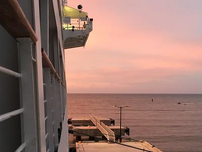 Sunrise from Fathom Travel Adonia Balcony Cabin