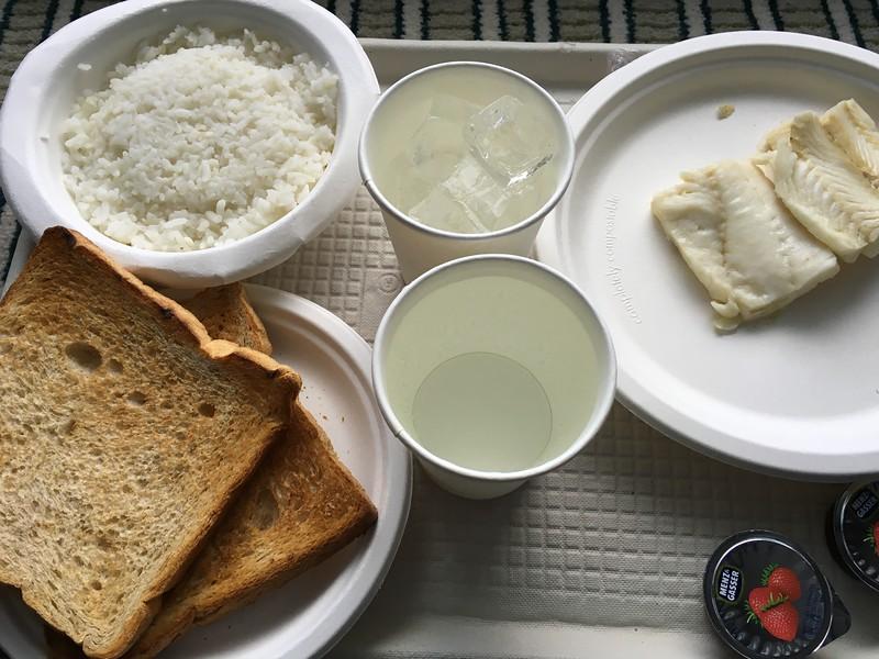 Boring Food For Sick Passengers