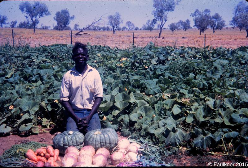 Jack Jinaguli with garden produce