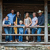 The Cash families are, from left, Corbin, Brian, Paige, Cylas, Jaci, Tracy and Joey.