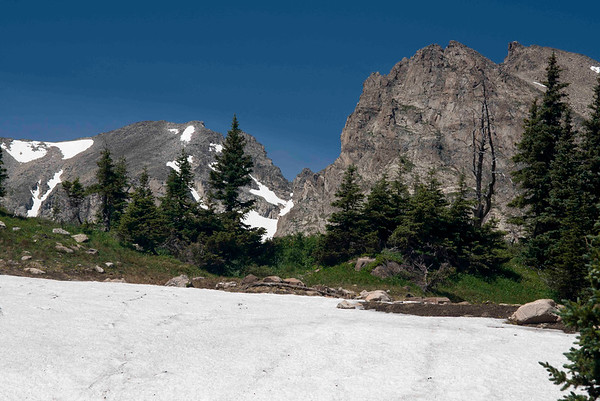 Snowfield by Trail