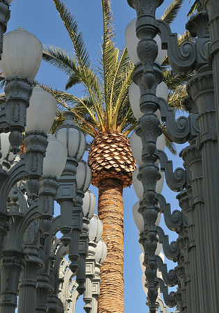 Lampposts with Palm 14x20