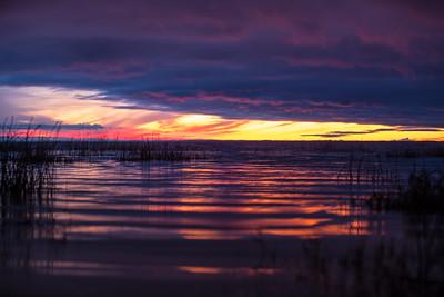 Päikeseloojang Võrtsjärvel / Evening Sunsets Lake Võrtsjärv