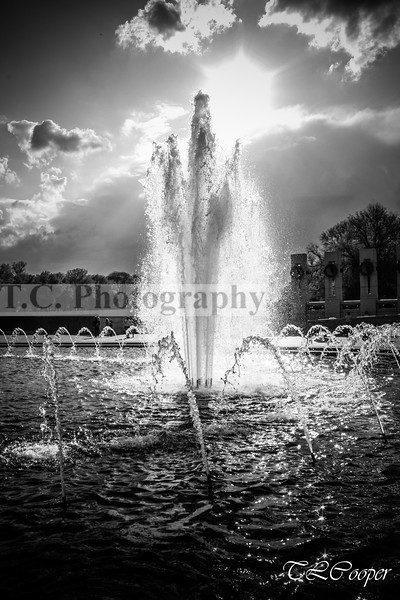 WWII Memorial Fountain in Washington DC