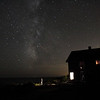 block island view of the milky way