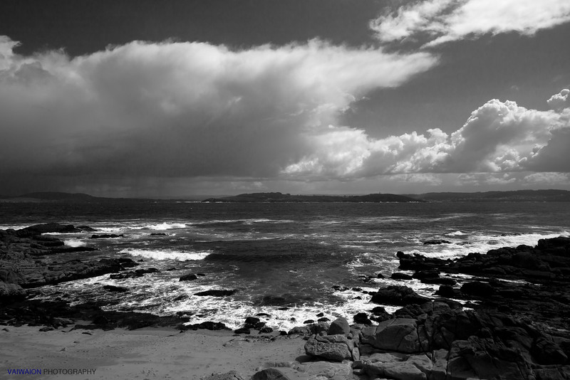 Untamed Coast in Black and White.<br /> Muros, A Coruña. Spain.