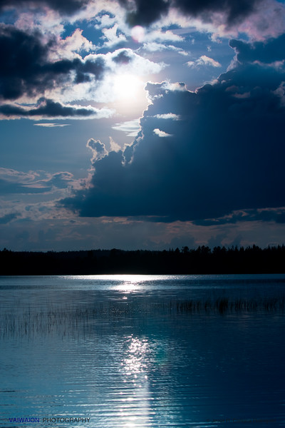 Blue Lake.  <br /> Hossänjarvi, Oulu. Finland.