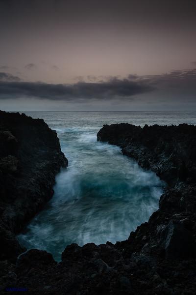Sea at Night. Abstraction