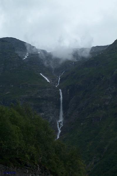 Waterfall in Sunnylvsfjord.<br /> Norway.
