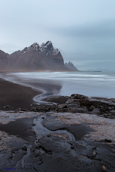 Vestrahorn Mountains and the Sea