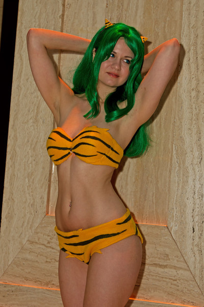 "I love just about everything by Rumiko Takahashi and in particular I love Urusei Yatsura. Lum Invader is one of my favorite characters with her Kansai dialect and always calling that lech, Ataru, that she loves ""Darling"". Anyway, enjoy the photo shoot"