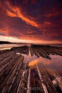 Rocks, Sea and Fire