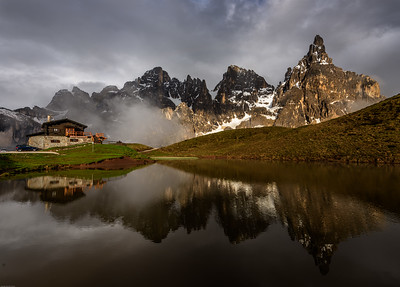 Reflections at Passo Rolle