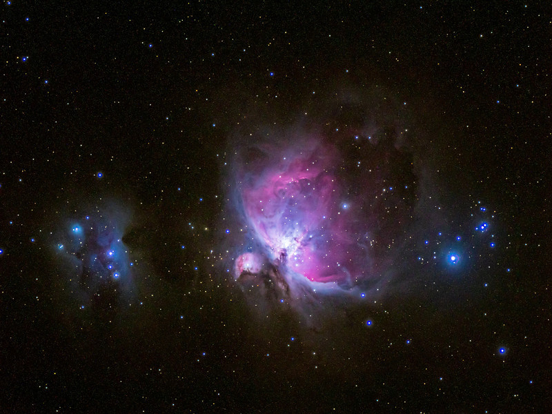 The Orion Nebula in a single 2-minute exposure