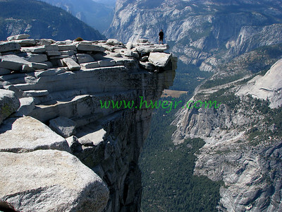 "An old college buddy and I hooked up to climb ( hike ) to the top of Half Dome in Yosemite NP. This is Yosemite Valley from Half Dome and can be found in its original category "" Travel - CA ""  in gallery  "" Cailf Oct, 2008 -2 "" as image #2547"