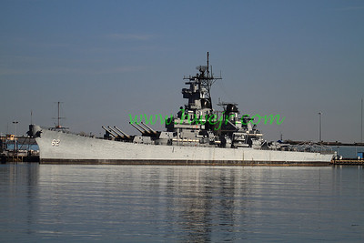 "This is the Battleship New Jersey on the Camden, NJ, waterfront at March, 2011. It can be found in its original category "" Military ""  in the gallery  "" New Jersey  March, 2011 "" as image #5335A"