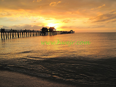 "I was lucky enough to be invited to visit friends in Naples, FL, in December, 2008, to catch this sunset over the town pier. It can be found in its original category "" Travel - FL ""  in gallery  "" Florida Dec, 2008-1"" as image #0084"