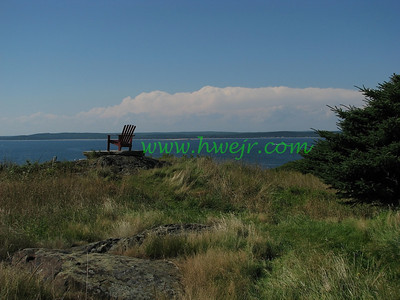 "This is the view towards Maine from a coastal island in August, 2007. This foto is found in its original category  "" Boats ""  in gallery  "" Maine Aug, 2007 "" as image #0364"