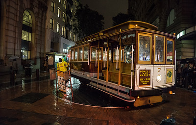Turning the Cable Car - San Francisco