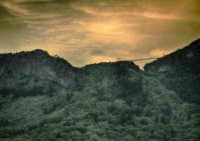 The mile high bridge as seen from below