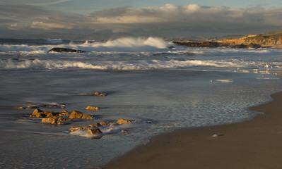 Rough surf - Pescadero Beach, California