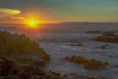 Rocky Sunset - Pescadero Beach, California