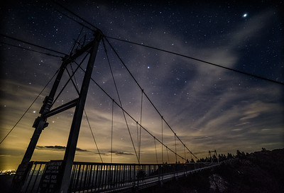 The mile high bridge at 11:00 PM