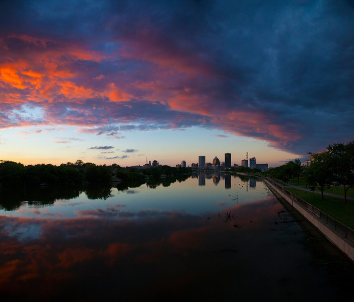 Rochester Skyline at Sunset