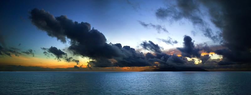 Moorea, at sea