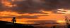 Sunset over Tahiti and Moorea