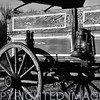 Old time wooden wagon in Fulton County, IL