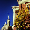 Church & courthouse, downtown Ottawa, Illinois""