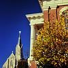 """Church & courthouse, downtown Ottawa, Illinois"""""""