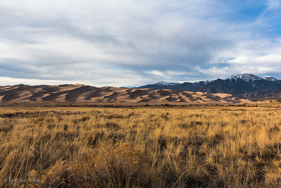 Golden Hour .  Great Sand Dunes Colorado