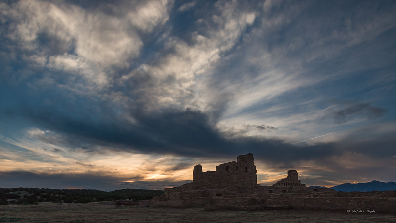 Abo Ruins Sunset, New Mexico