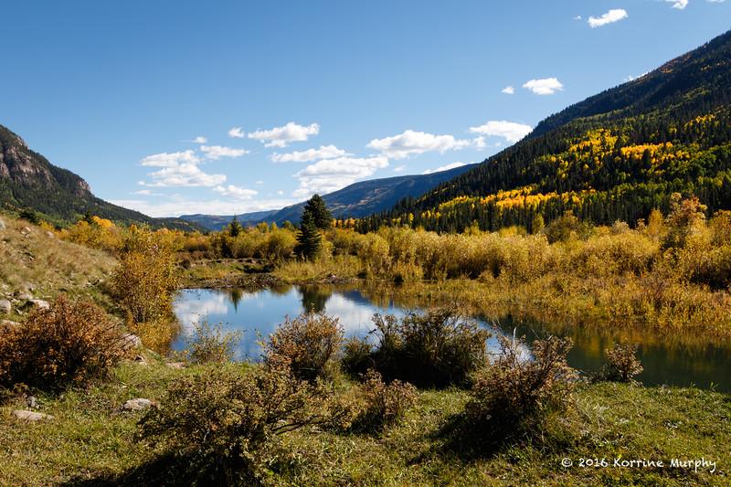 Beaver Pond & Fall Colors.  Colorado