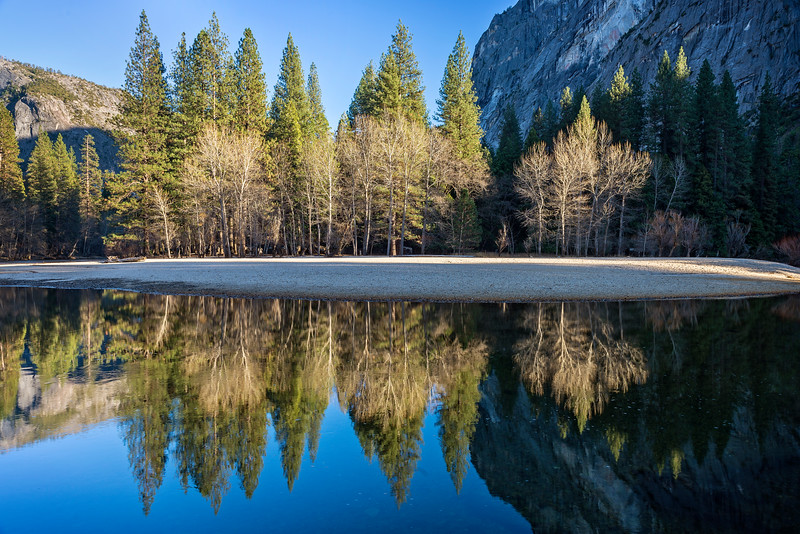 Reflections in the Merced River, Yosemite Valley