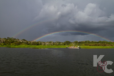 Double Rainbow Over our Skiff