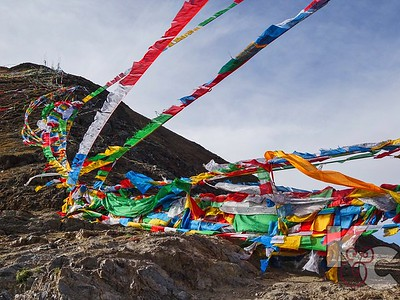 Prayer Flags - Colors Have Significance: Blue-Air, White-Wind, Red-Fire, Green-Water, Yellow-Earth