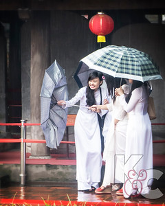 Students at Temple of Literature