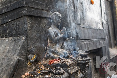 Incense  Burning as Offering at Shrine