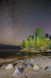Milky Way over Mosquito Beach, Pictured Rocks National Lakeshore.