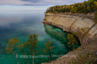 Cliffs between Miner's and Mosquito Beach, Pictured Rocks National Lakeshore.