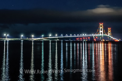 Mackinac Bridge just before sunrise.